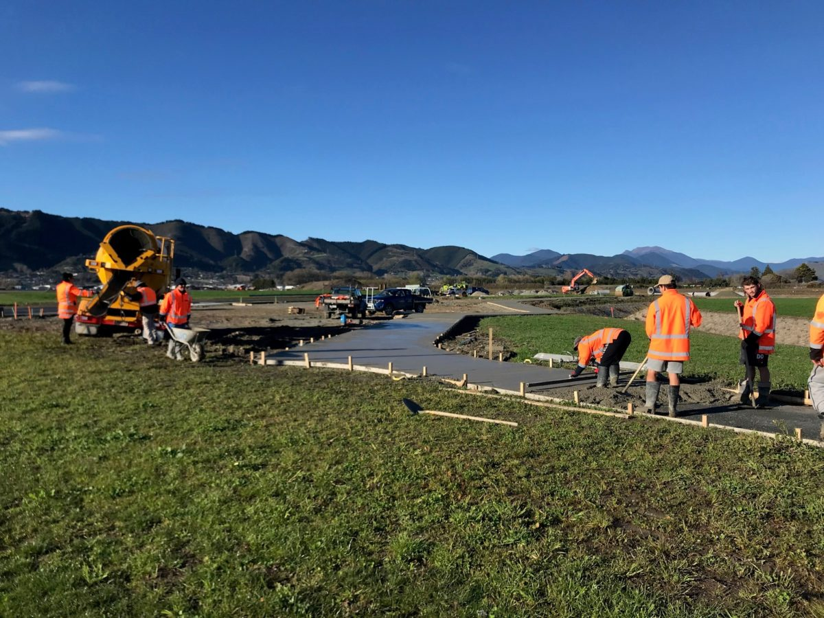 Shared Path Nearly Finished In Central Park Reserve